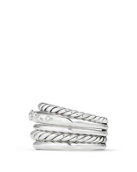 David Yurman - Pure Form Wide Ring with Diamonds