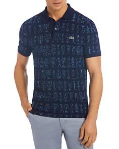 Lacoste Egyptian Print Crepe Piqué Slim Fit Polo Shirt - Bloomingdale's_0
