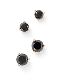 Bloomingdale's Black Diamond Stud Earrings in 14K Yellow Gold, 0.50 - 1.0 ct. t.w. - 100% Exclusive_0