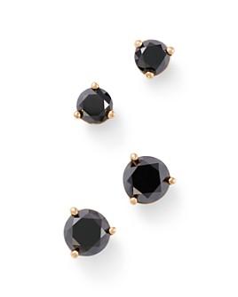 Bloomingdale's - Black Diamond Stud Earrings in 14K Yellow Gold, 0.50 - 1.0 ct. t.w. - 100% Exclusive