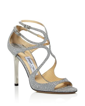 Jimmy Choo - Women's Lang Glitter Leather Strappy High-Heel Sandals
