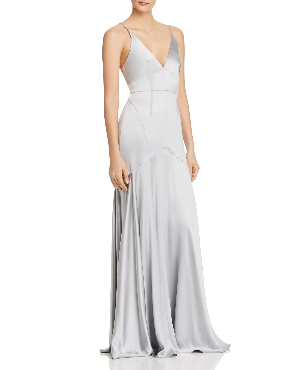 Satin Corset Detail Gown by Jill Jill Stuart