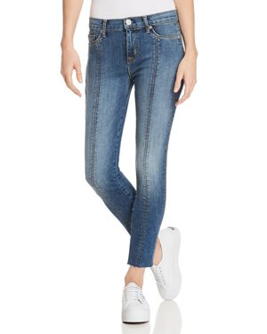 Nico Super Skinny Lace-Up Cropped Jeans, Unfamed