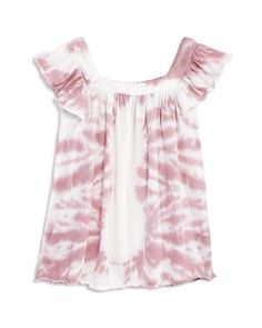 CHASER Girls' Flutter-Sleeve Tie-Dye Cotton Top - Little Kid, Big Kid - Bloomingdale's_0