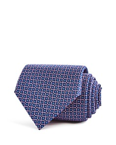 Turnbull & Asser Geometric Floral Squares Neat Classic Tie - Bloomingdale's_0