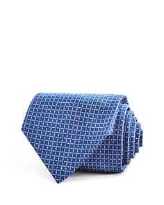 Turnbull & Asser Textured Squares Geometric Neat Classic Tie - Bloomingdale's_0