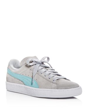 WOMEN'S CLASSIC SUEDE LACE UP SNEAKERS