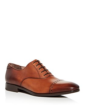 Salvatore Ferragamo - Men's Boston Leather Brogue Cap Toe Loafers