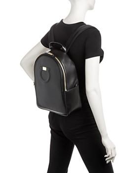 Salvatore Ferragamo - Large Gancio City Calfskin Backpack