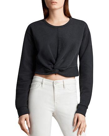 ALLSAINTS - Paloma Twist-Front Cropped Sweatshirt