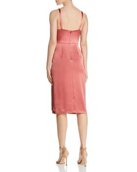 Jill Jill Stuart - Satin Twist-Front Dress