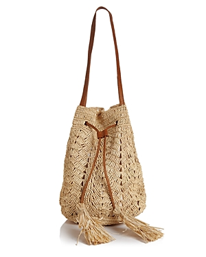 0d809bcdd Mar Y Sol Sanibel Raffia Drawstring Bucket Bag In Natural | ModeSens