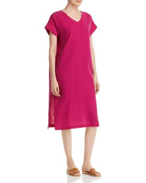 Eileen Fisher Petites Silk V-Neck Dress 2978455