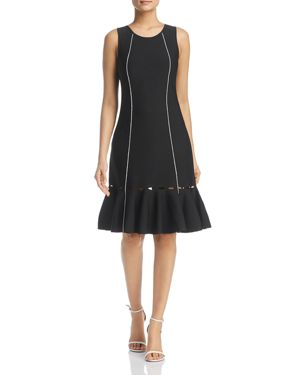 Nic+Zoe Cutout Ruffle-Hem Dress