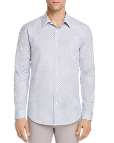 Theory Stitch Print Regular Fit Button-Down Shirt - Bloomingdale's_0