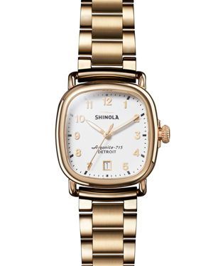 SHINOLA 36Mm The Guardian Chronograph Bracelet Watch, Two-Tone in Gold/ White/ Gold