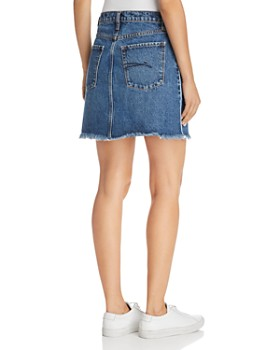 Nobody - Piper Pipe Denim Skirt in White Edge