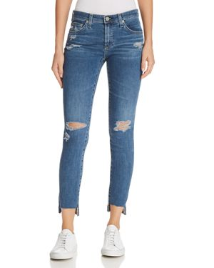 ANKLE LEGGING JEANS IN 10 YEARS SEA MIST DESTRUCTED