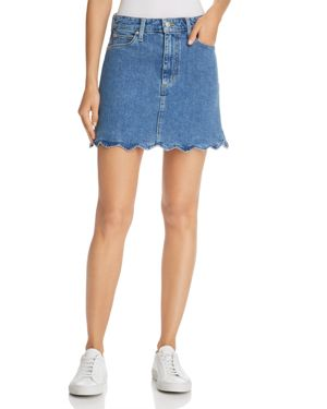 JOE'S Bella Scalloped Denim Mini Skirt in Kenzy