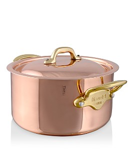 Mauviel - M150B Copper & Stainless Steel Stew Pan and Lid