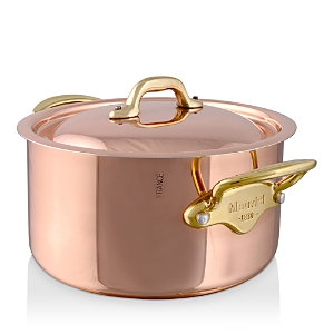 Mauviel M150B Copper & Stainless Steel Stew Pan and Lid