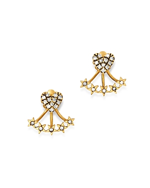 Suel Blackened 18K Yellow Gold Heart & Star Diamond Ear Jackets