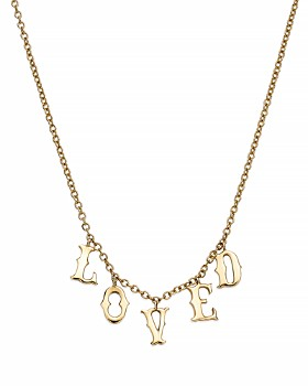 """SUEL - 14K Yellow Gold Loved Necklace, 20"""""""