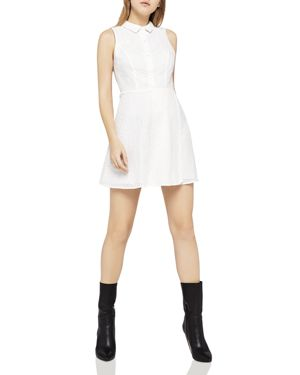 BCBGeneration Eyelet Shirt Dress