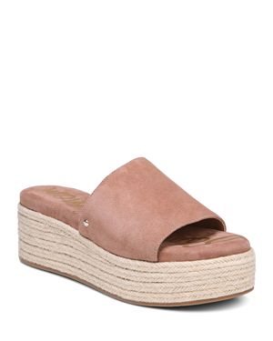 Women'S Weslee Suede Espadrille Slide Sandals, Dusty Rose Suede
