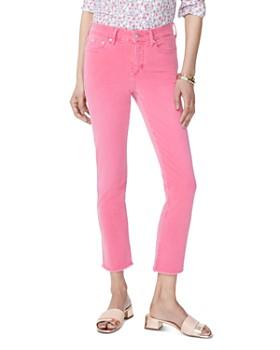 NYDJ - Sheri Slim Frayed Ankle Jeans in Begonia
