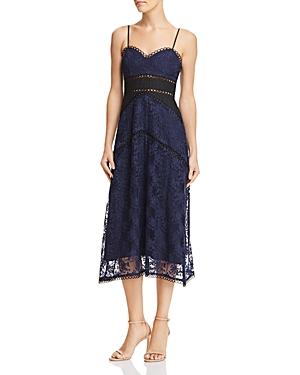 Sau Lee Brielle Floral Embroidered Dress