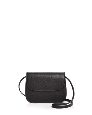 Alexander Convertible Leather Belt Bag, Black/Silver