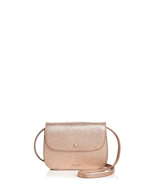 Alexander Convertible Leather Belt Bag, Rose Gold/Silver