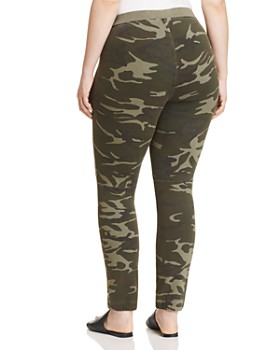 SLINK Jeans Plus - Camo Knit Skinny Lounge Pants