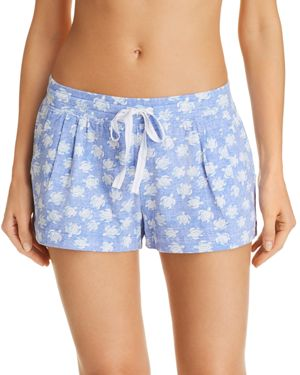 JANE & BLEECKER NEW YORK PRINTED KNIT SHORTS