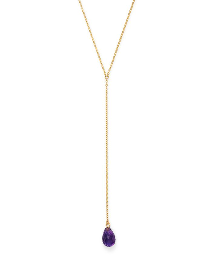 """Bloomingdale's - Amethyst Pendant Y Necklace in 14K Yellow Gold, 26"""" - 100% Exclusive"""