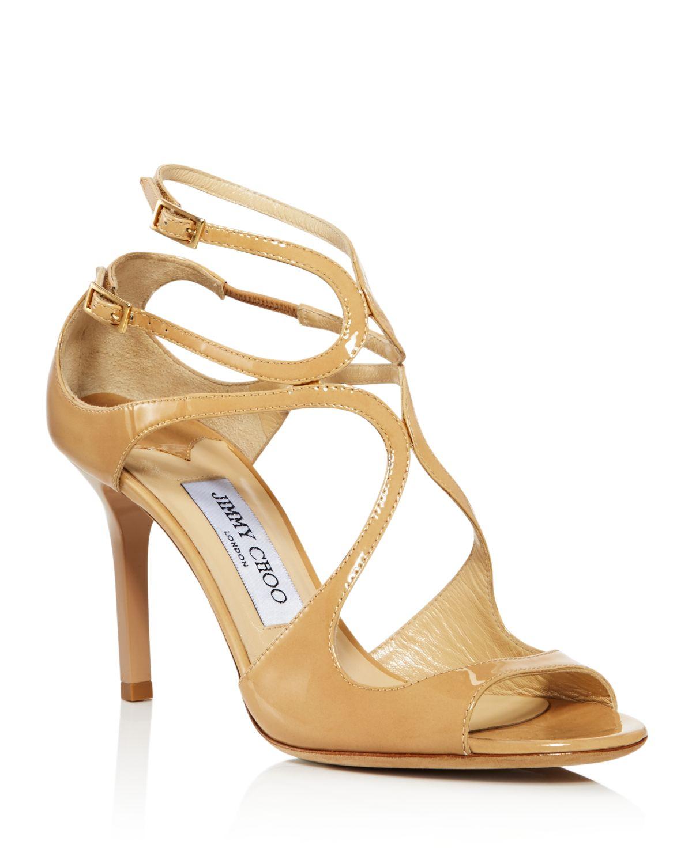 Jimmy choo Women's Ivette 85 Patent Leather High-Heel Sandals