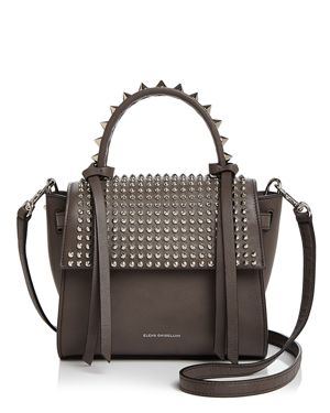 Angel Extra Small Punky Leather Satchel in Gray/Silver