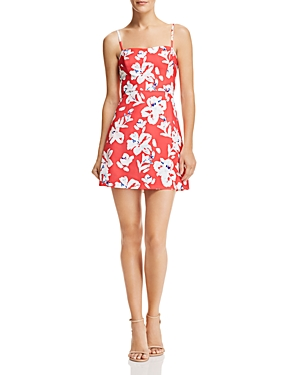 French Connection Verona Floral-Print A-line Mini Dress