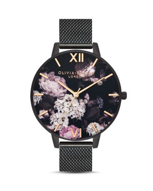 SIGNATURE FLORAL MESH STRAP WATCH, 38MM