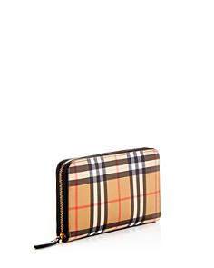 Burberry - Vintage Check Elmore Zip Around Wallet