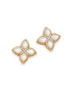 Roberto Coin - 18K Yellow Gold Venetian Princess Mother-Of-Pearl & Diamond Earrings