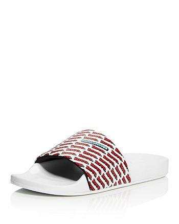 2c965bdc0d6406 MARC JACOBS - Women s Love Aqua Leather Slide Sandals