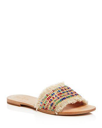 83aac52ded9a kate spade new york Women s Solaina Embellished Fringe Slide Sandals ...