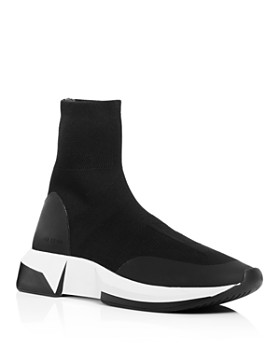 Via Spiga - Women's Verion Knitted Platform Sock Sneakers