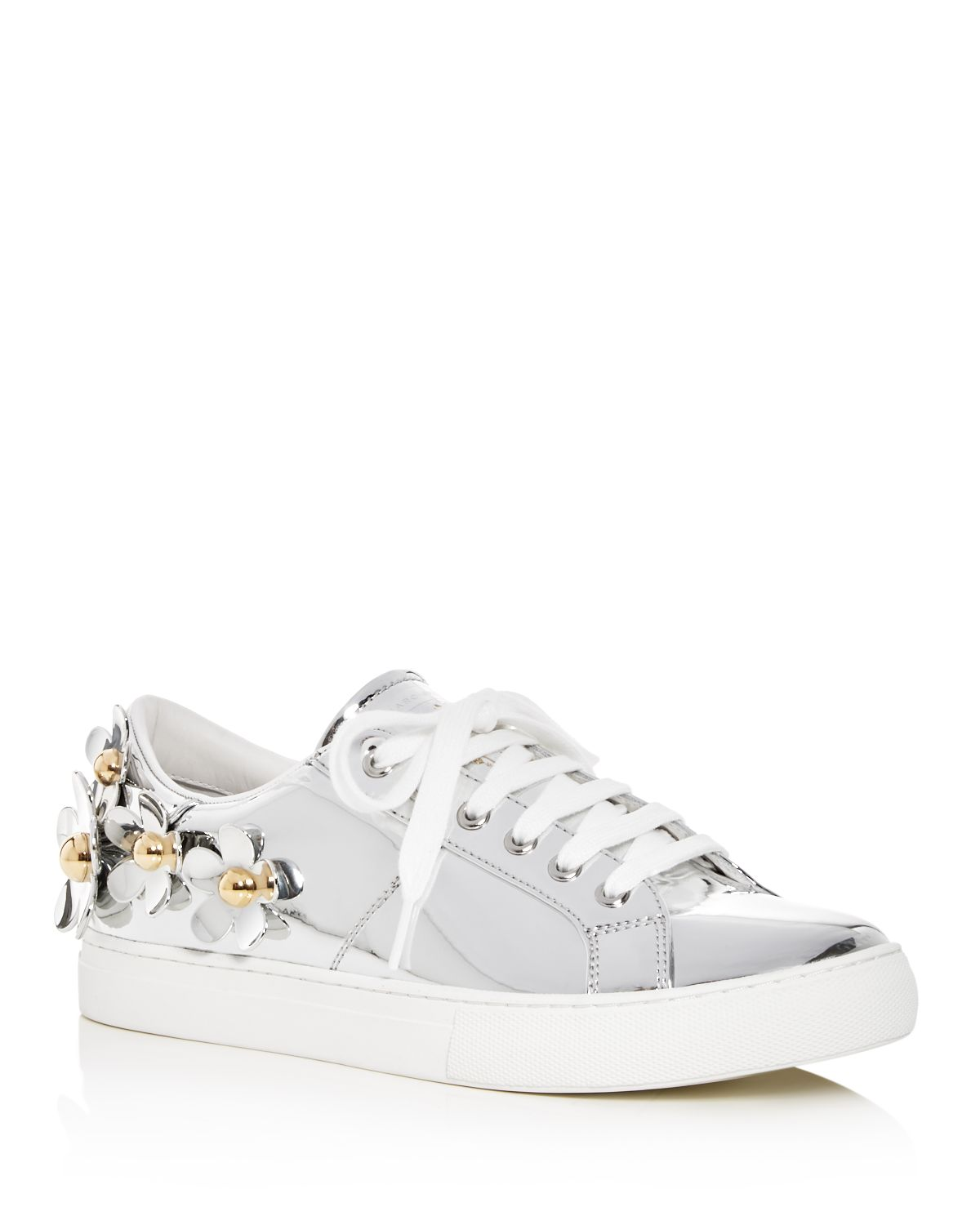 Women's Daisy Embellished Patent Leather Lace Up Sneakers by Marc Jacobs