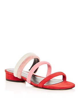Rebecca Minkoff - Women's Kade Color-Block Suede Slide Sandals