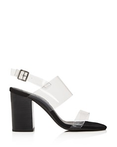 Sol Sana - Women's Mavis Transparent Strap Block Heel Sandals