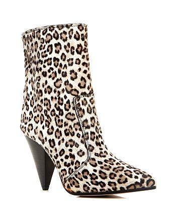 Stuart Weitzman - Women's Atomic Leopard Print Calf Hair Booties