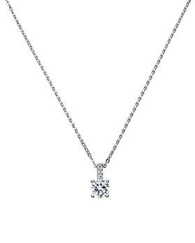 "Crislu - Cubic Zirconia Pendant Necklace, 16"""